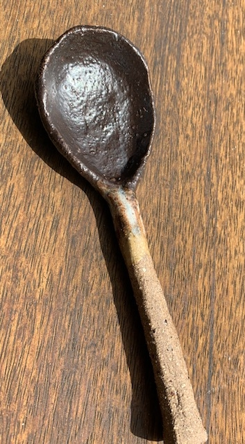 small ceramic spoon