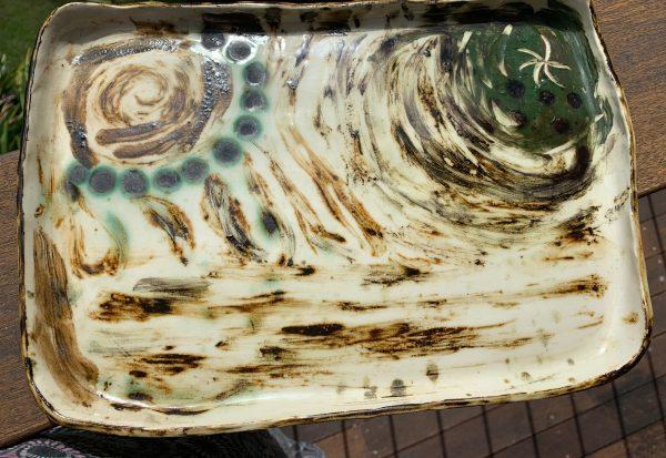 ceramic platters bespoke flintstone designs